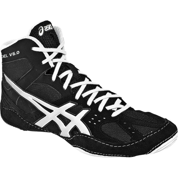 Asics Cael V6.0 Black Silver Wrestling Shoes