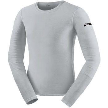 ASICS Long Sleeve Compression Top Athletic Grey