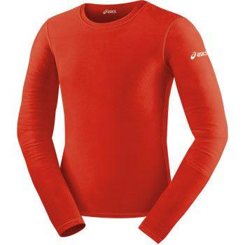 ASICS Long Sleeve Compression Top Red