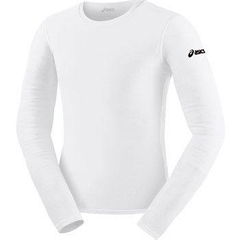 ASICS Long Sleeve Compression Top White