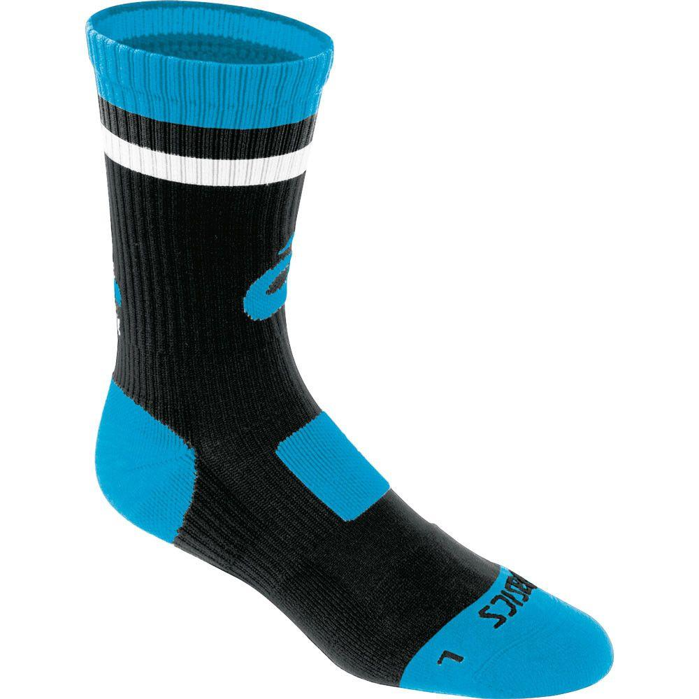 Asics Craze Crew Socks Black Cyan Blue