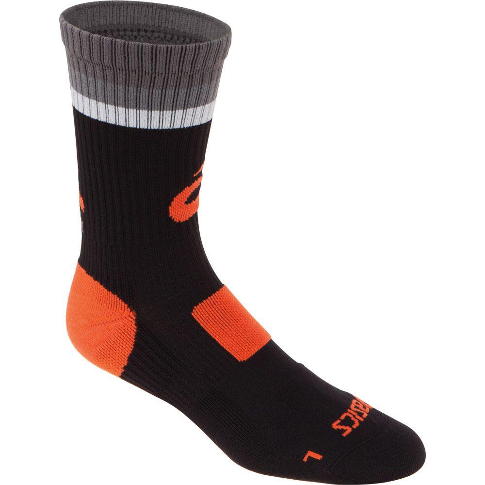 Asics Craze Crew Socks Black Neon Orange
