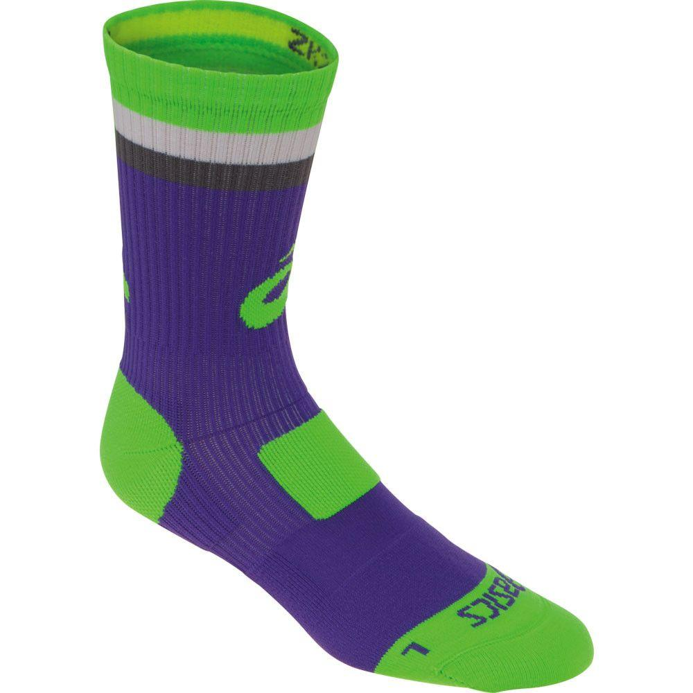 Asics Craze Crew Socks Purple Lime