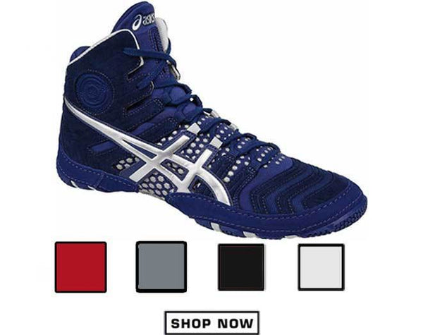 ASICS Dan Gable Ultimate Navy Blue Wrestling Shoes