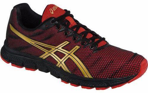 Asics JB Elite TR Black Oly Gold Red Training Shoes