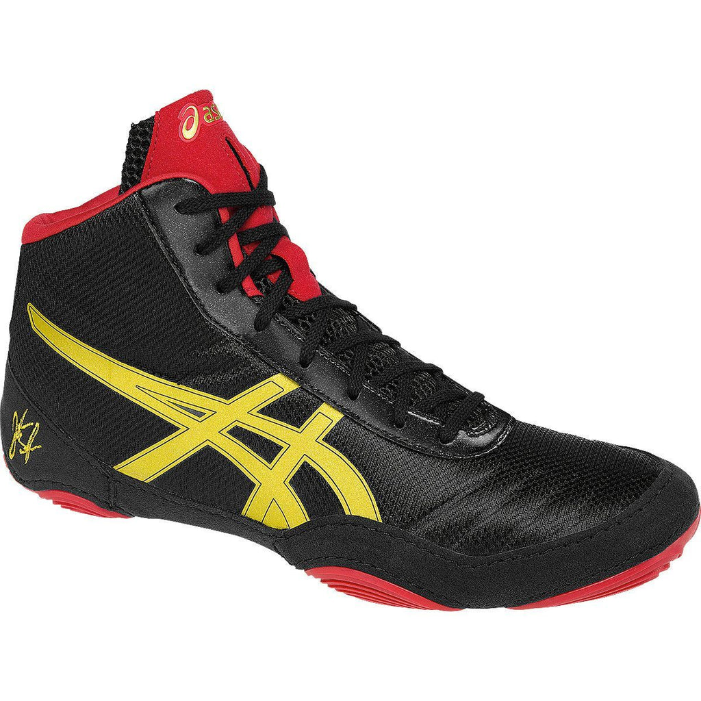 Asics JB Elite V2.0 Retired Black Oly Gold Red Wrestling Shoes