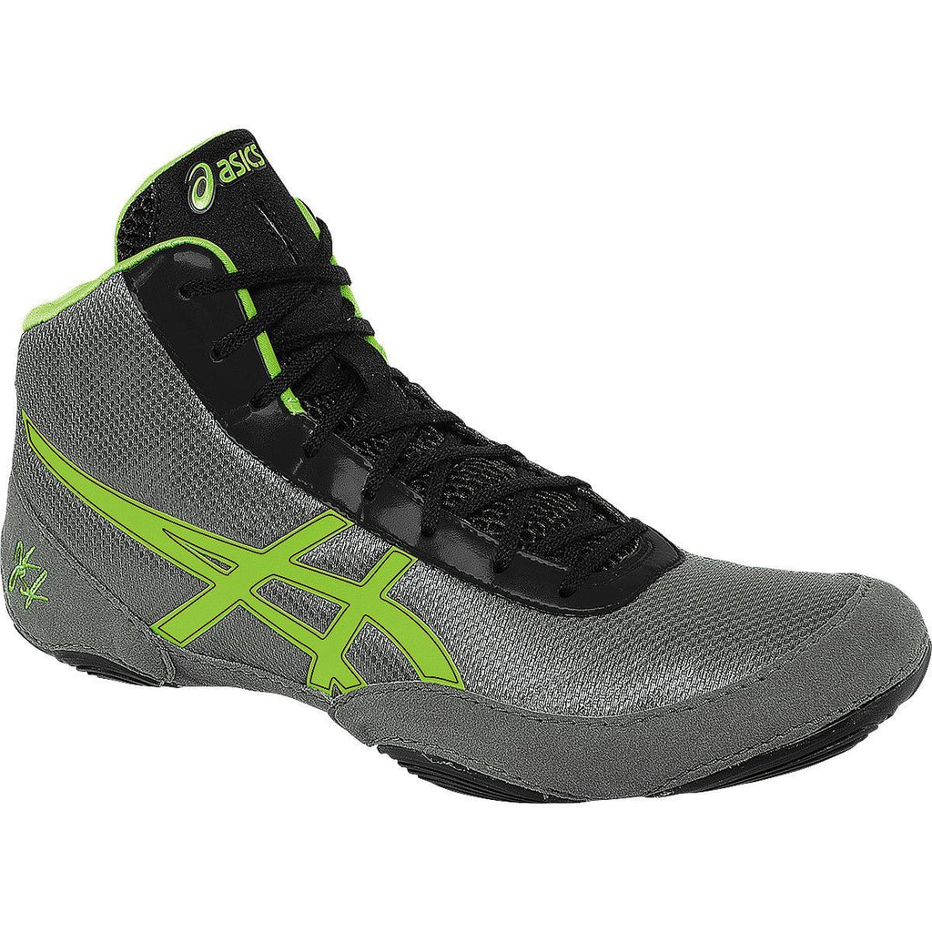 Asics JB Elite V2.0 Retired Granite Green Gecko Black Wrestling Shoes