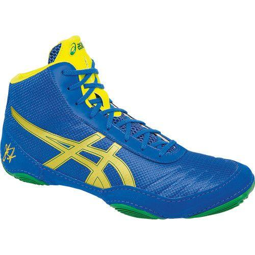 Asics JB Elite V2.0 Classic Blue Rich Gold Sun Wrestling Shoes