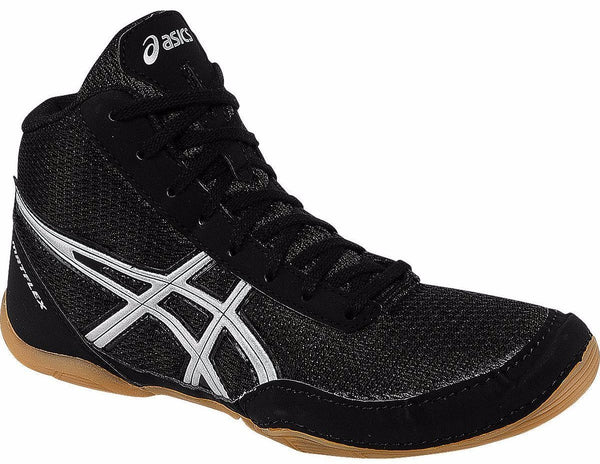 Asics Matflex 5 GS Youth Black Silver Wrestling Shoes