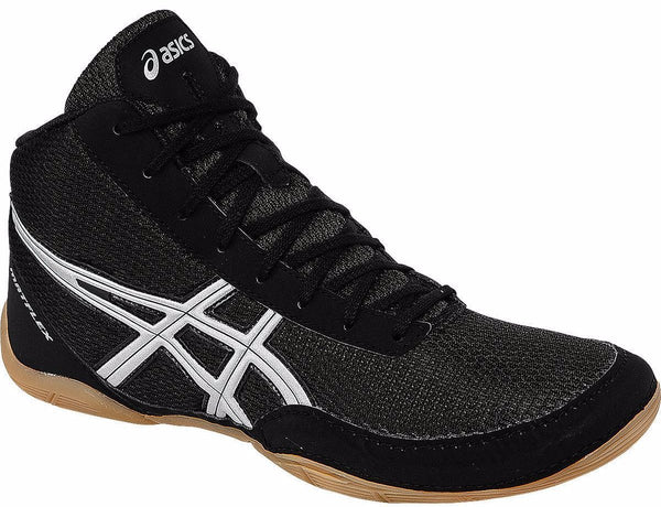 Asics Matflex 5 Black Silver Wrestling Shoes