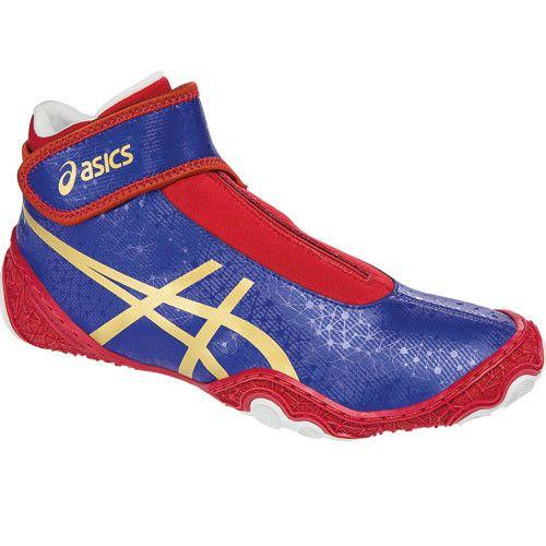 Asics Omniflex Attack V2.0 Asics Blue Gold Red Wrestling Shoes