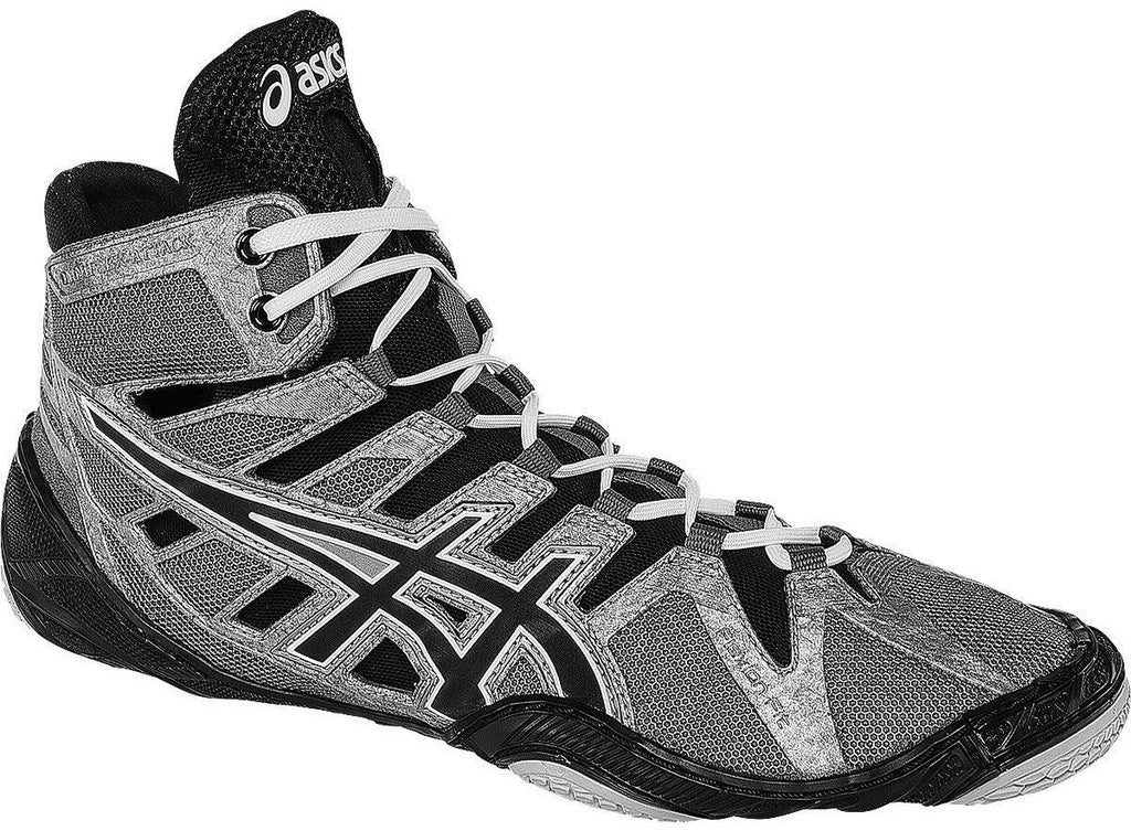 Asics Omniflex Attack Charcoal Black White Wrestling Shoes