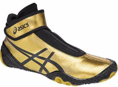 Asics Omniflex Attack V2.0 Gold Black Wrestling Shoes