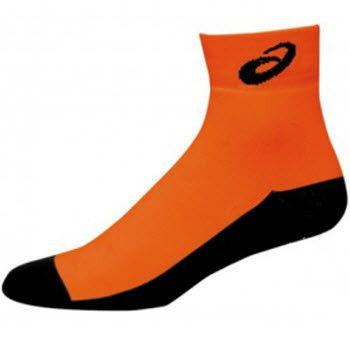 Asics Snap Down Socks Orange Black