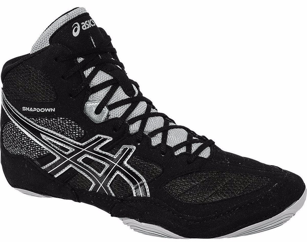 Asics Snapdown Black Silver Wrestling Shoes