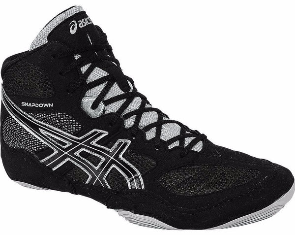 Asics Snapdown Wide Black Silver Wrestling Shoes