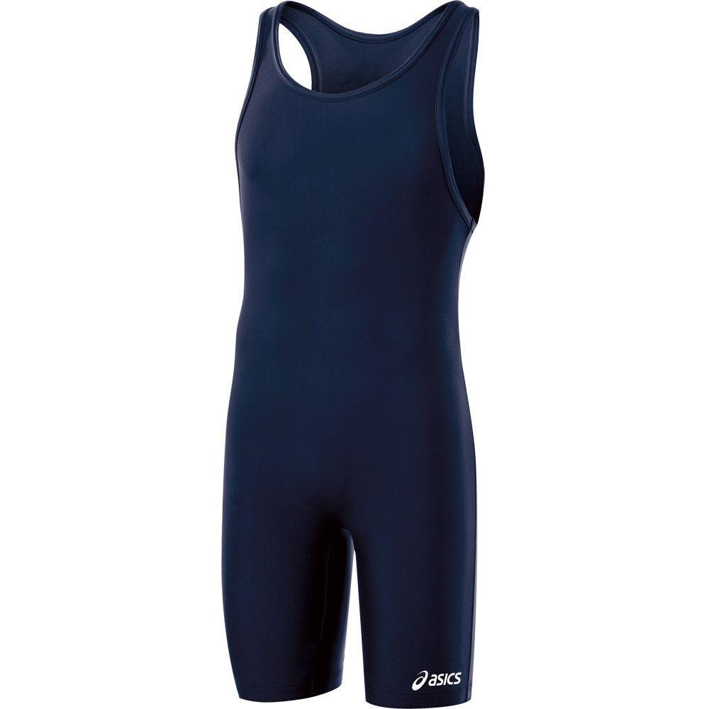 ASICS Solid Stock Modified Singlet Navy