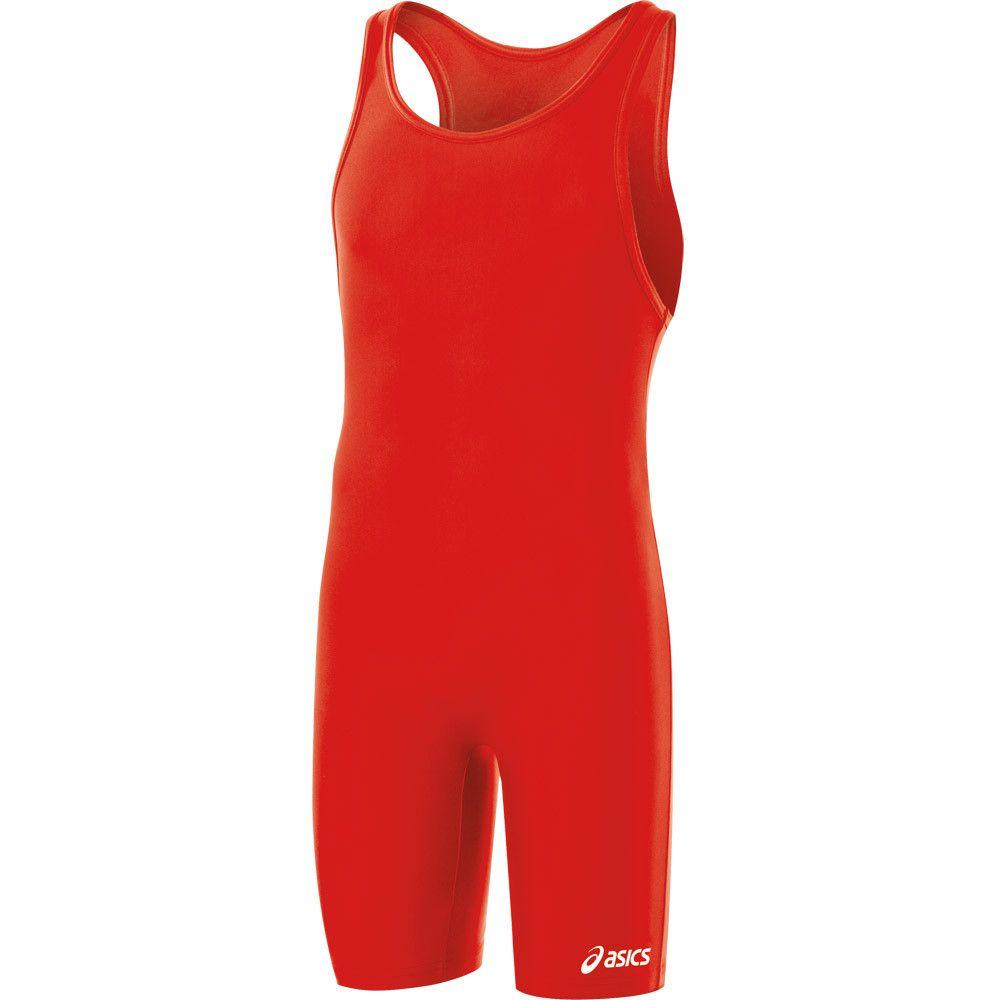 ASICS Solid Stock Modified Singlet Red