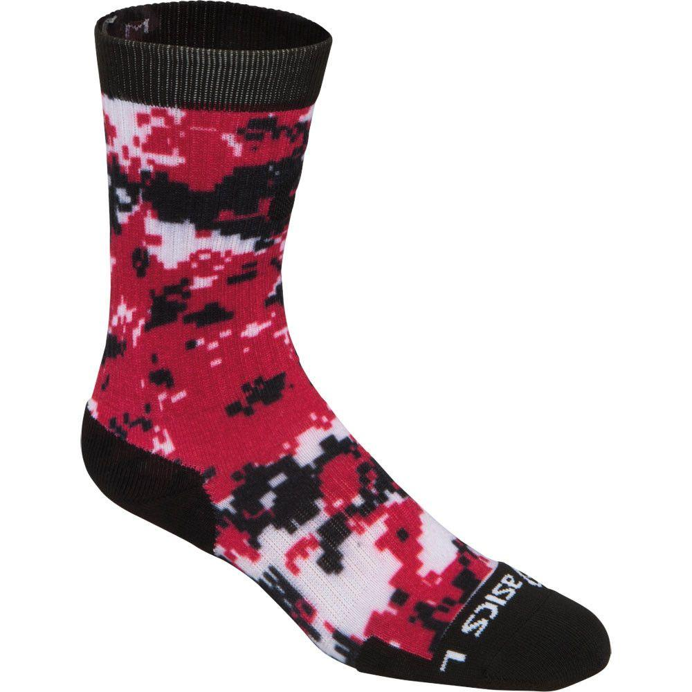 ASICS TM Camo Crew Sock Black Red