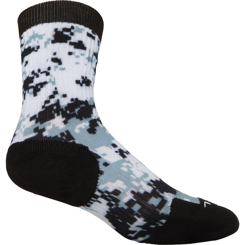 ASICS TM Camo Crew Sock Black Steel Grey 2