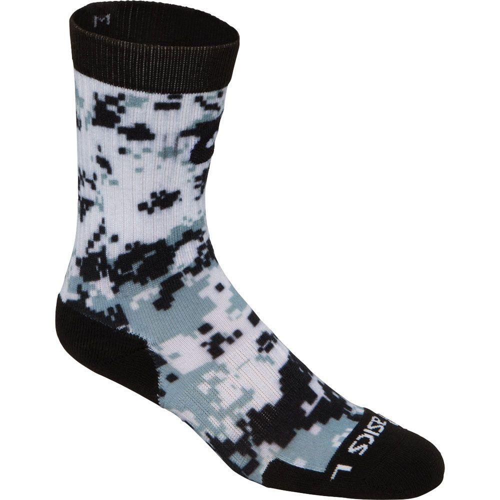 ASICS TM Camo Crew Sock Black Steel Grey
