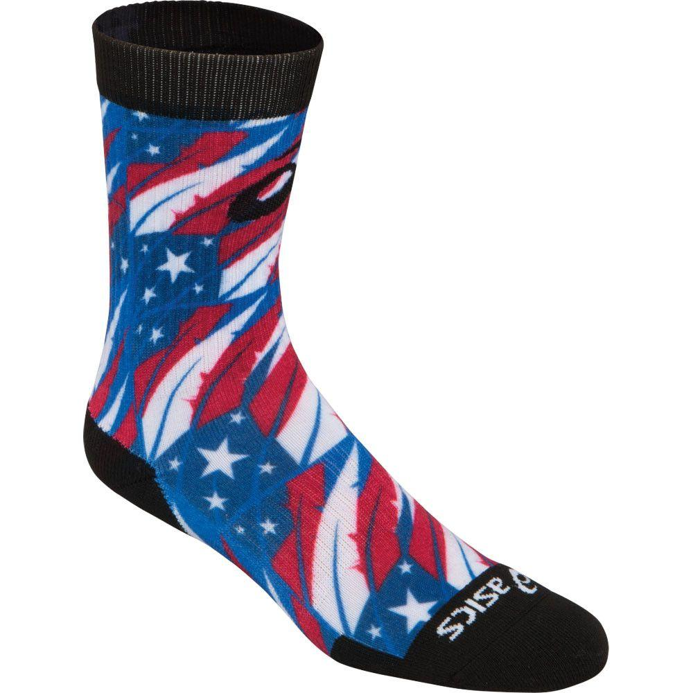 ASICS TM Multi Print Crew Sock Flag Feather