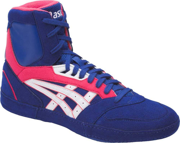 asics international lyte wrestling shoes limoges white rogue red