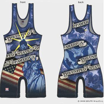 Brute USA Sublimated Singlet Blue
