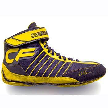 Cagefighter Revolution Combat Pro 1 Yellow Wrestling Shoes