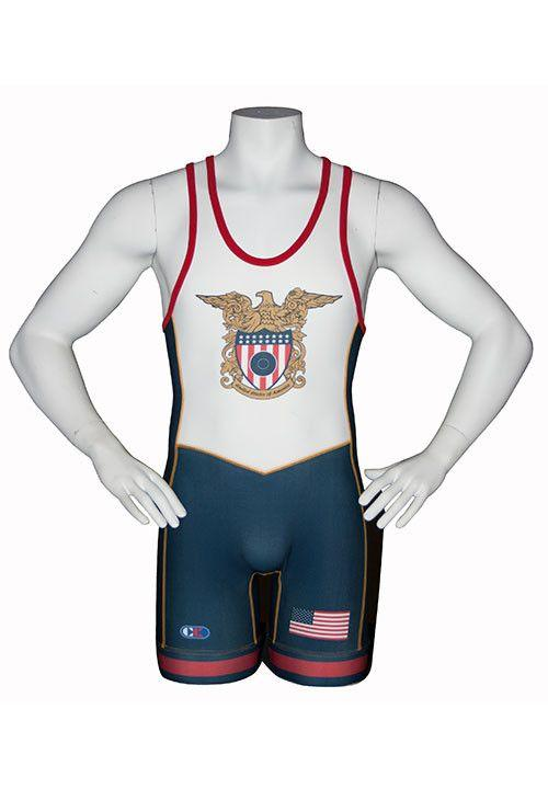 Cliff Keen Stock Sublimated USA Singlet