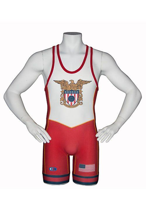 Cliff Keen Stock Sublimated Singlet USA Red