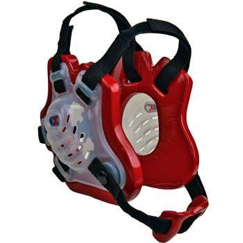 Cliff Keen Tornado Youth Headgear Trans Red Black