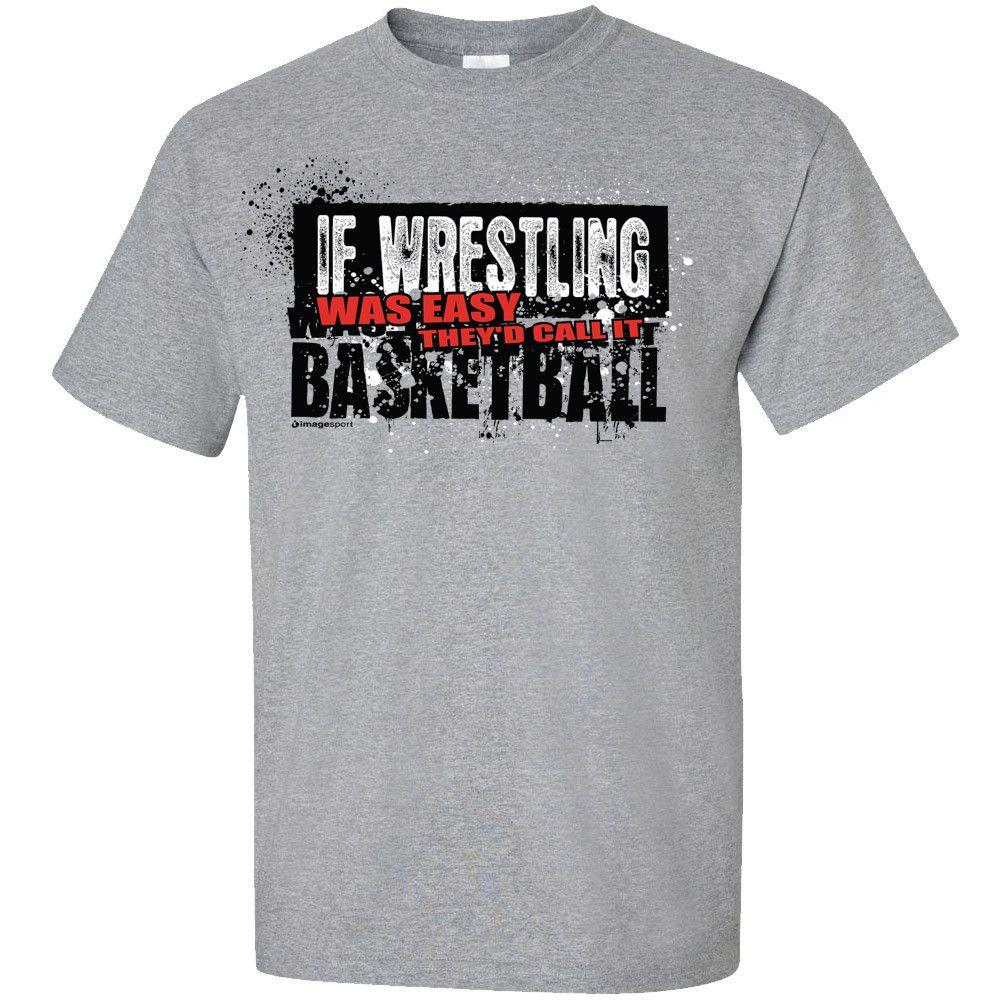 Image Sport If Wrestling Was Easy T-shirt Grey