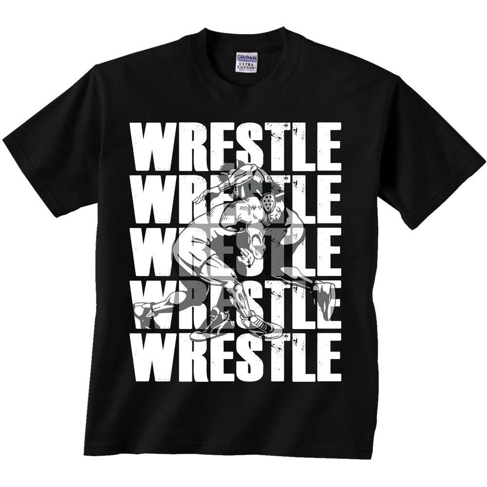Image Sport Wrestle Repeat T Shirt Black