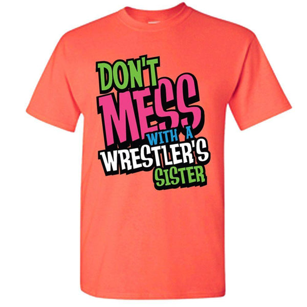 Image Sport Wrestlers Sister T Shirt Orange