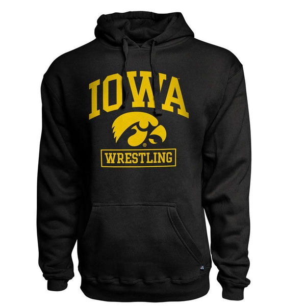 J America Iowa Black Cotton Hoodie