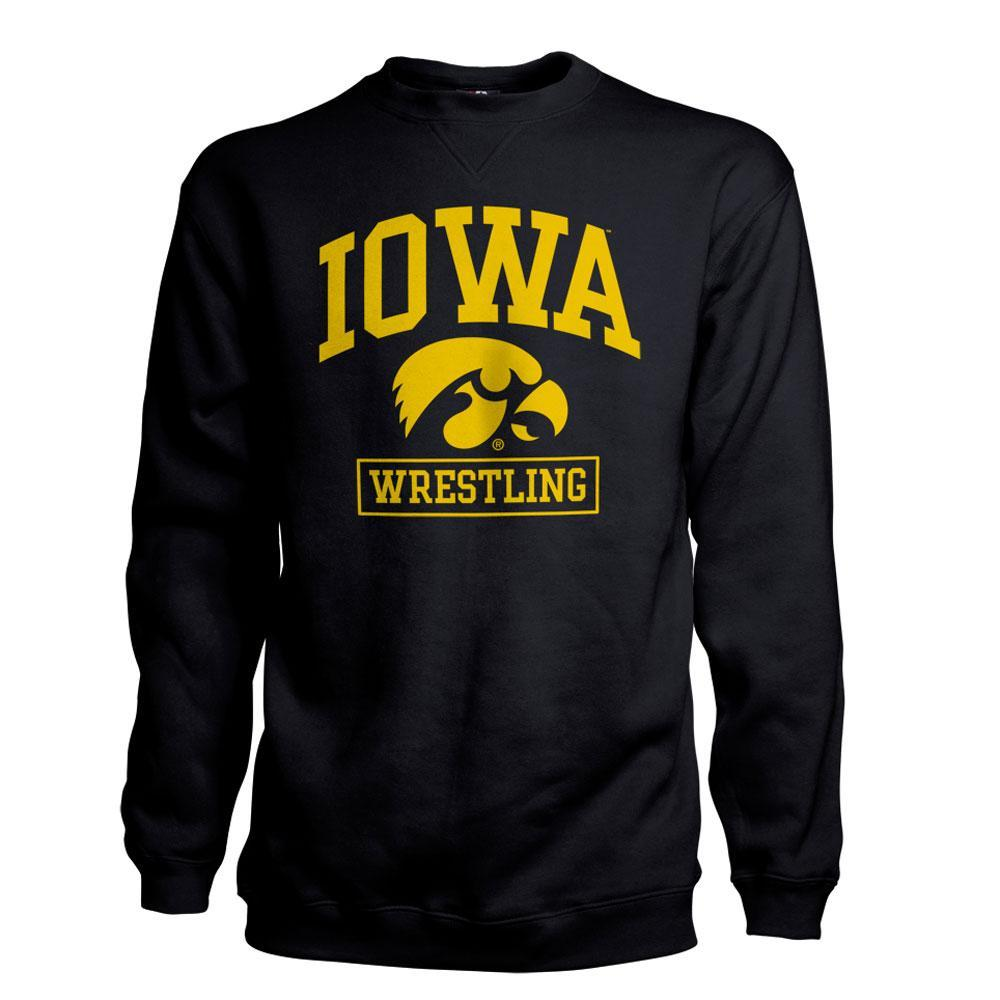 J America Iowa Wrestling Sweatshirt Black