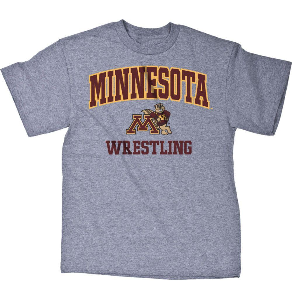 J America University of Minnesota Wrestling T Shirt