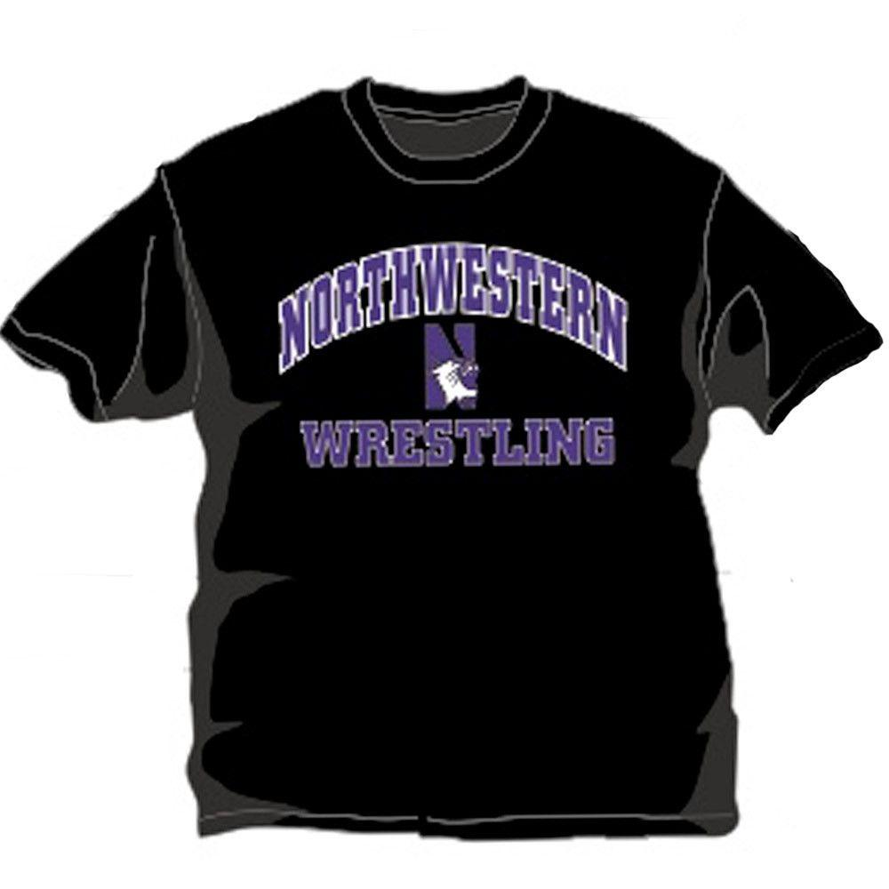 J America Northwestern University Black T Shirt