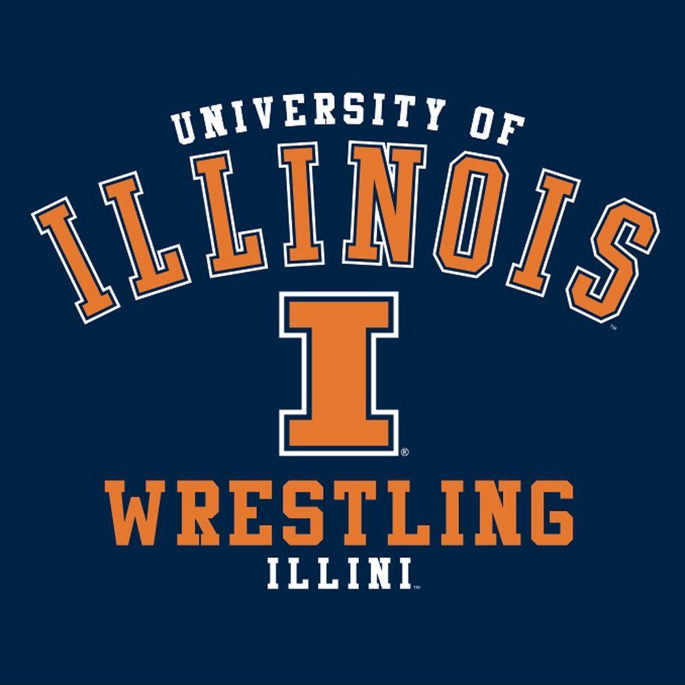 J. America University of Illinois Wrestling T Shirt