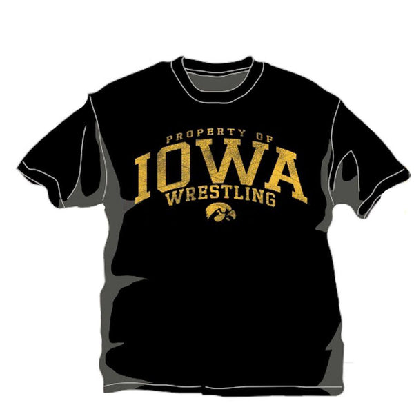 J America University of Iowa T Shirt Black