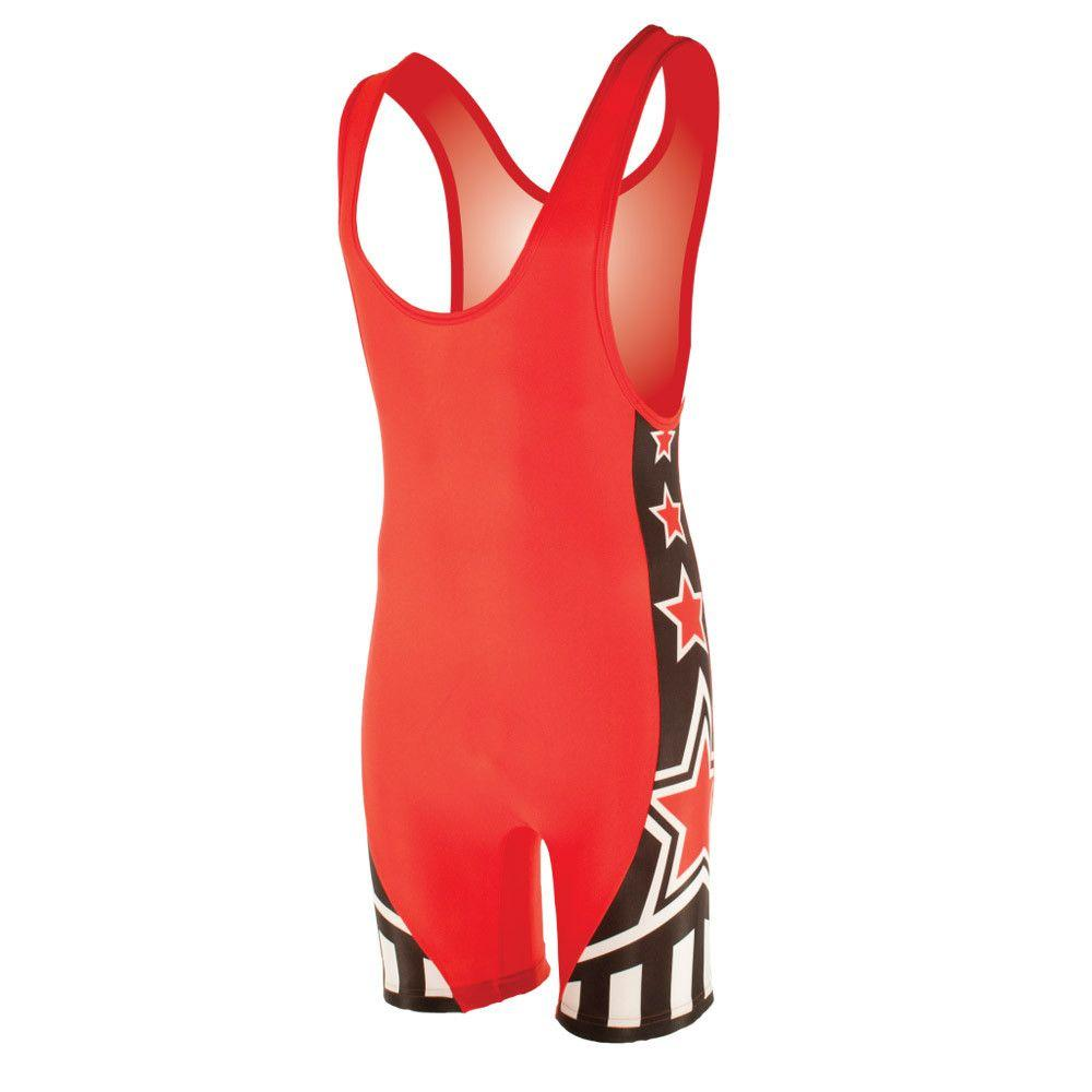 Matman Athens High Cut Wrestling Singlet Red