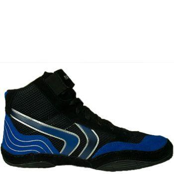 Matman Striker Black Blue Wrestling Shoes