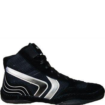 Matman Striker Black Silver Wrestling Shoes