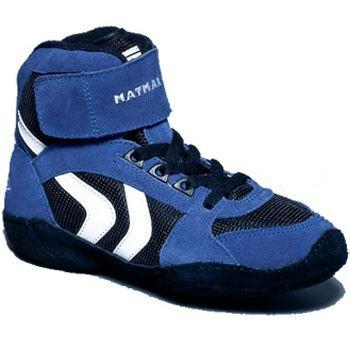 Matman Ultra Retired Black Blue Wrestling Shoes