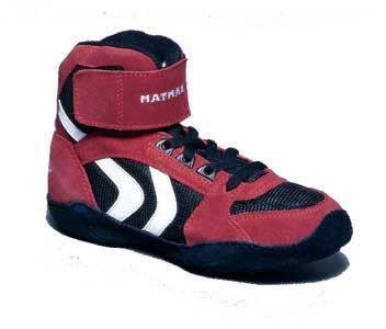 Matman Ultra Retired Black Red Wrestling Shoes