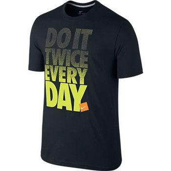 Nike Do It Twice Everyday T Shirt Black