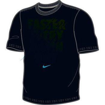 Nike Faster Every Damn Day T Shirt Black Blue