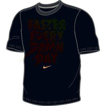 Nike Faster Every Damn Day T Shirt Black Orange