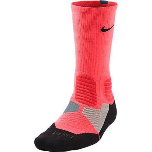 Nike Hyper Elite Crew Socks Hot Lava Dove Grey